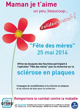 Operation fête des mères contre la SEP - campagne Fondation ARSEP