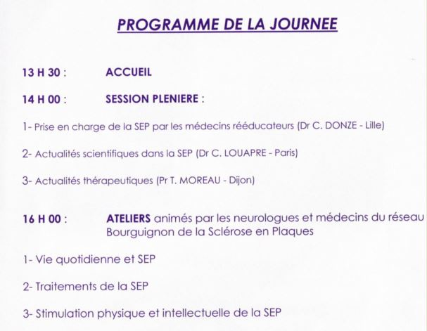 Programme réunion SEP Dijon 2018