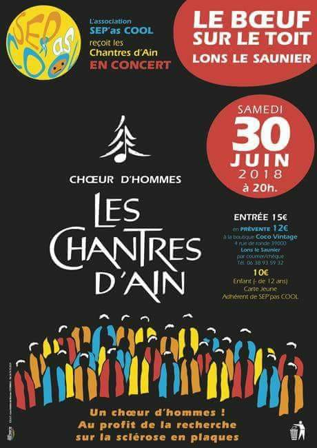 Affiche concert juin 2018 à Lons Le Saunier pour l'ARSEP