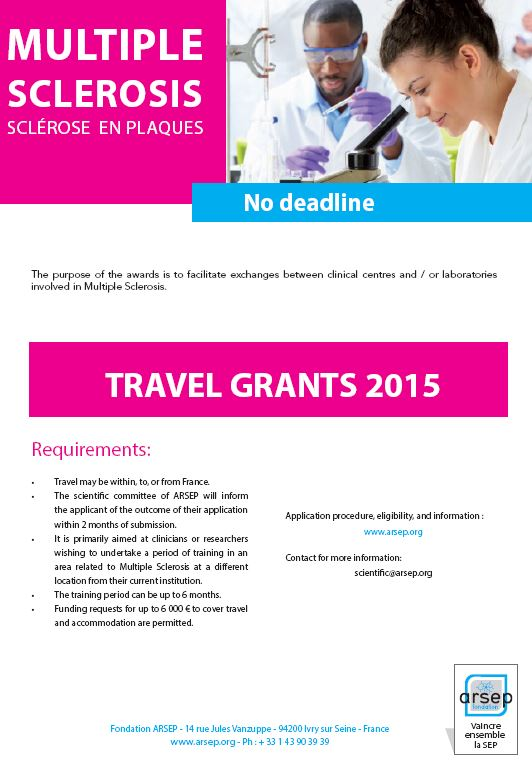 Travel Grants ARSEP 2015