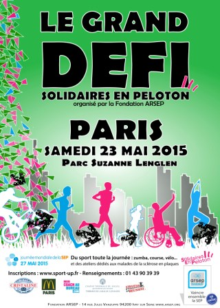 Grand Defi Solidaires En Peloton Paris 2015